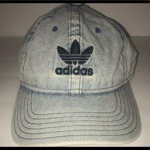 Adidas Relaxed Fit Strapback Denim Baseball Cap